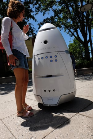 There have even been two instances where the company found lipstick marks on the robot where people had kissed the graffiti-resistant dome.