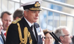 First sea lord Adm Sir Philip Jones during the naming of the HMS Prince of Wales. He said technology was rapidly changing the Royal Navy.