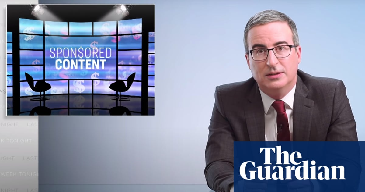 John Oliver places fake sponsored content on to local news: 'Far too easy'