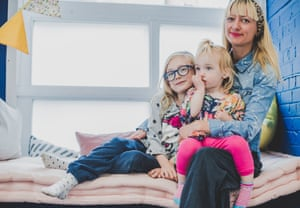 Zoey Goto and her daughters at Cuckooz Nest