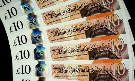 new plastic pound sterling notes