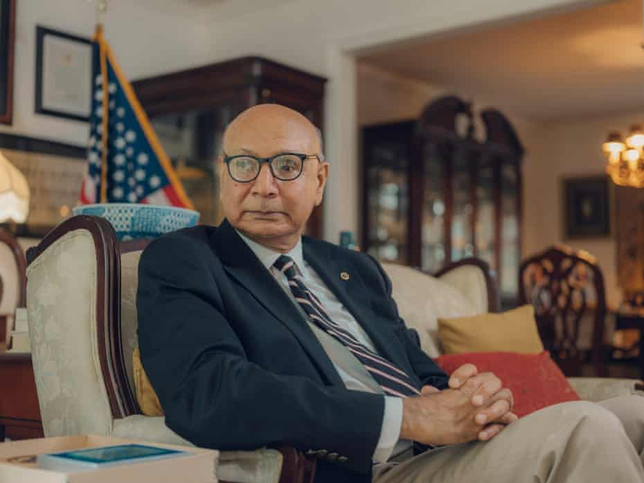 Khizr Khan: 'America cannot have four more years of this mentality that continues to divide us. It's selfish and self-centred.'