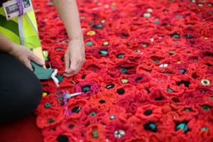 Using almost 300,000 individually crocheted poppies, Phillip's garden design covers nearly 2,000sq m (21,000sq ft)