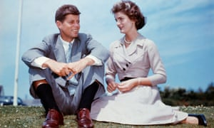 JFK with Jacqueline Bouvier at Hyannis Port, Massachusetts, a few months before their wedding in 1953.