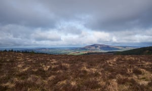 Cooley Mountains, Co Louth, looking across at Sleibh Gullion in South Armagh.
