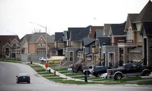 A recently developed residential neighbourhood of Innisfil