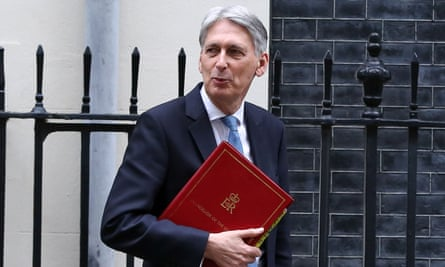 Philip Hammond en route to deliver the spring statement
