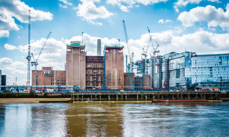 The redevelopment of Battersea power station, London, including luxury housing