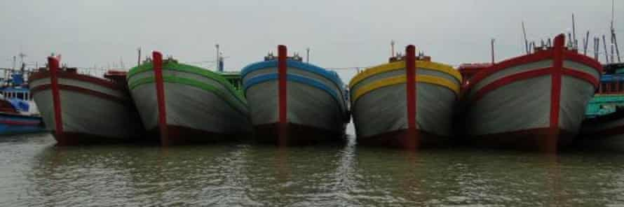 Five of the boats Dragon Industries Asia has made for Australia. 6 March 2015