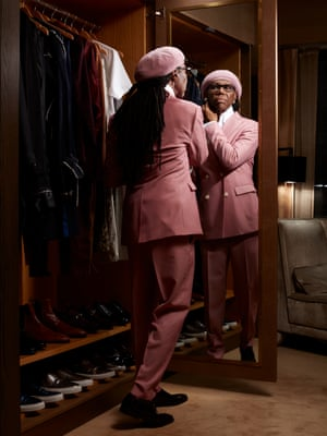 Nile Rodgers getting ready at the Roxy Hotel, New York