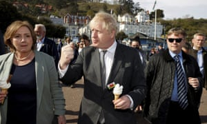 Boris Johnson visits Llandudno in Wales on Monday as he campaigns for local elections.