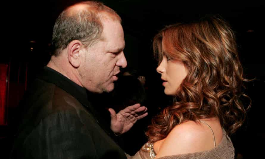 Harvey Weinstein and Kate Beckinsale at a Miramax party in Santa Monica in 2004