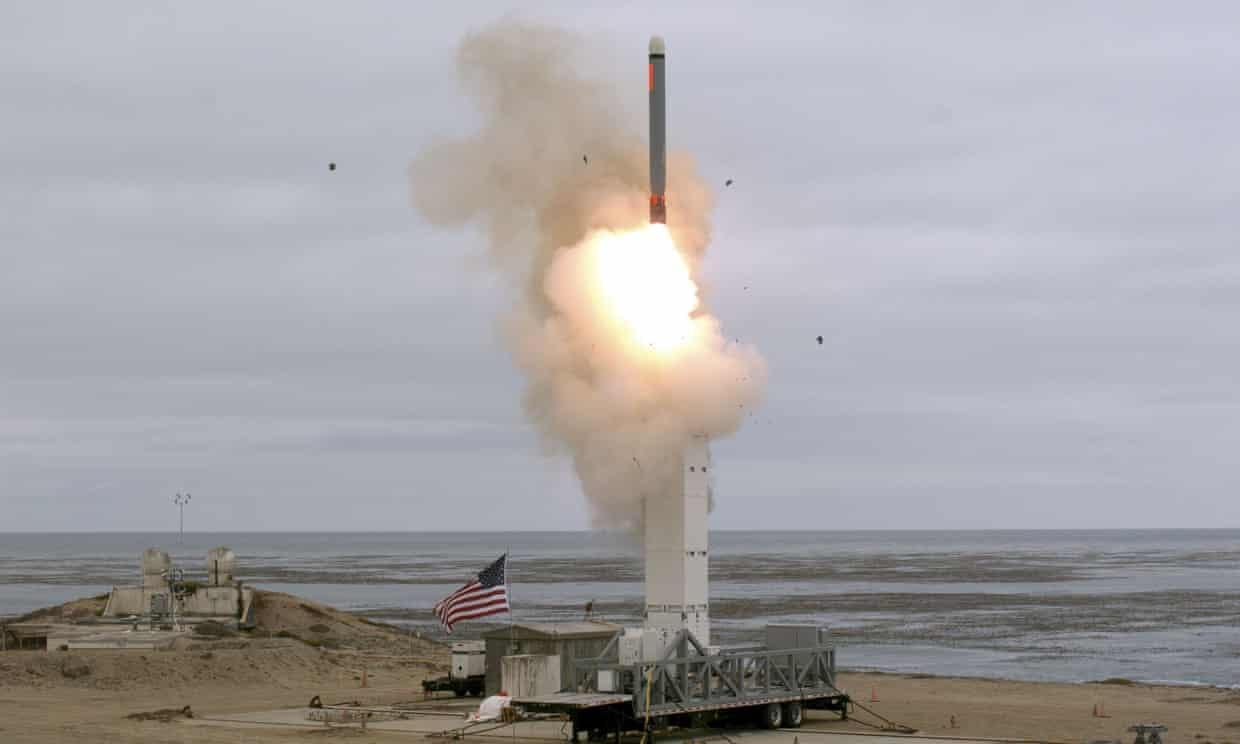Tomahawk cruise missile tested by US