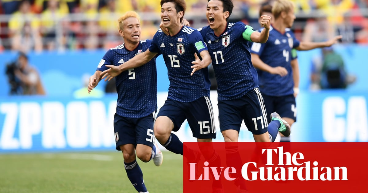 a0d08afc7 Colombia 1-2 Japan: World Cup 2018 – as it happened | Football | The  Guardian