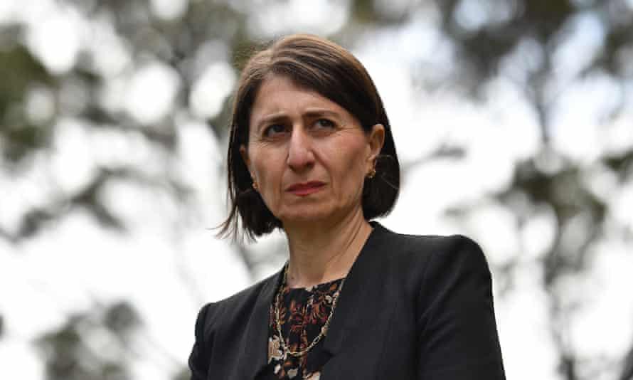 NSW premier Gladys Berejiklian speaks to reporters at Parliament House in Sydney