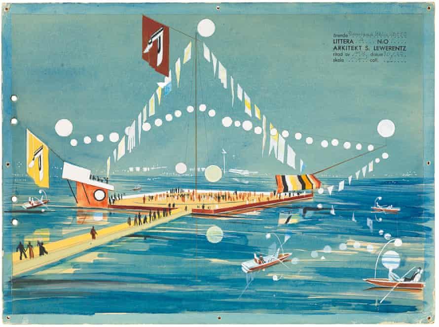 The 1930 design for a floating dancefloor by Sigurd Lewerentz.