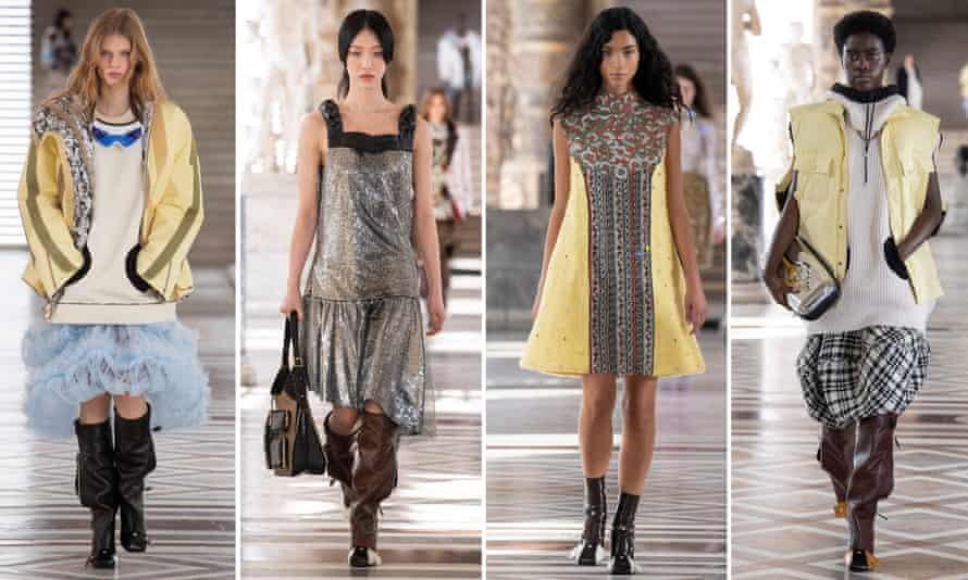 Louis Vuitton shows its womenswear autumn/winter 20-21 in the Louvre, Paris.