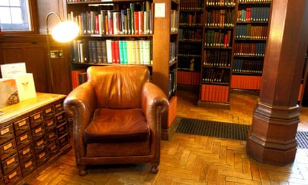 Leather armchair in Gladstone's Library