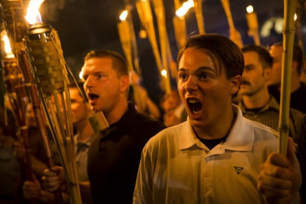 Peter Cvjetanovic along with Neo Nazis and white supremacists at the University of Virginia campus \ in Charlottesville, Va.