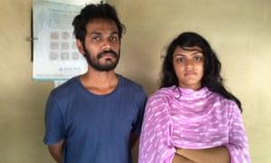 Rizwana Hasin and Rissat Imtiaz, the children of murdered English professor Rezaul Karim Siddiquee.