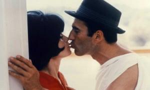 Piccoli with Brigitte Bardot in Le Mepris.