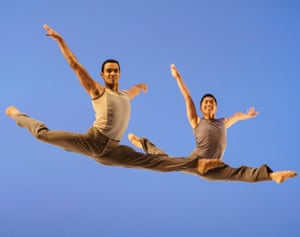 Balletic home turf ... Brandon Lawrence and Tzu-Chao Chou in Lyric Pieces.