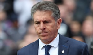 Leicester City manager Claude Puel during his side's heavy defeat at Crystal Palace, which took their poor run to four wins in the previous 18 games.