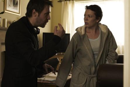 Paddy Considine directing Olivia Colman in Tyrannosaur.
