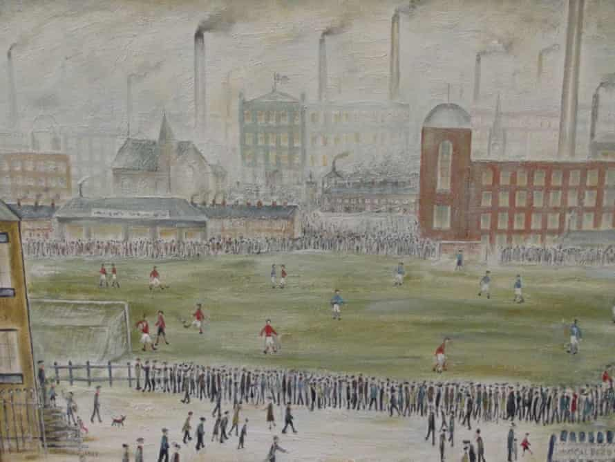 Before Kick Off, art forger Shaun Greenhalgh's take on Lowry.