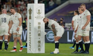 Dan Marler looks dejected after England's defeat to South Africa