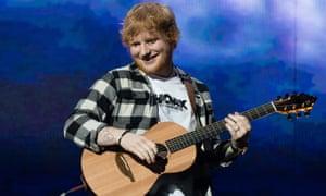 Ed Sheeran performs at Optus Stadium in Perth on 2 March.