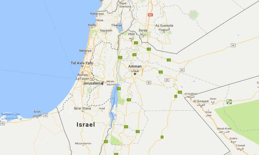 No Palestine label on Google Maps