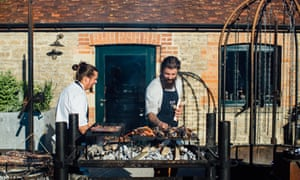 On fire: Roth Bar & Grill at Hauser & Wirth, Somerset.