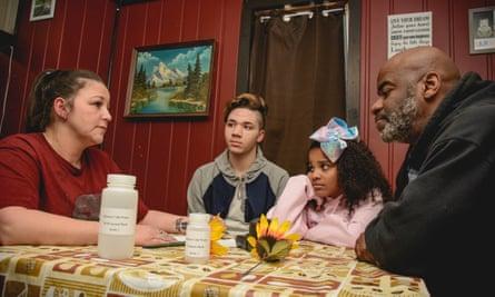 Citizen activists discuss the water crisis in Flint, Michigan