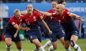 Norway celebrate