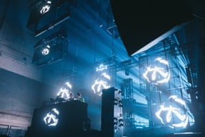 Aphex Twin performing at Red Bull Music festival.