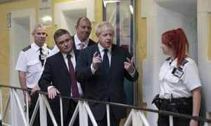 """Boris Johnson visits Leeds prison on 13 August 2019. 'It is not surprising to see the Tories resurrecting """"law and order"""" to deflect from other troubles,' writes Mike Nash."""