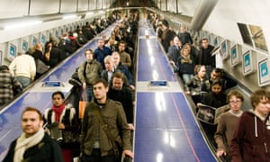 People on The London Underground.