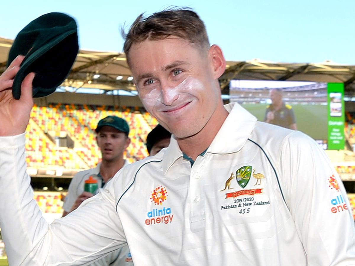 Marnus Labuschagne hits maiden Test ton as Australia turn screws on Pakistan | Cricket | The Guardian