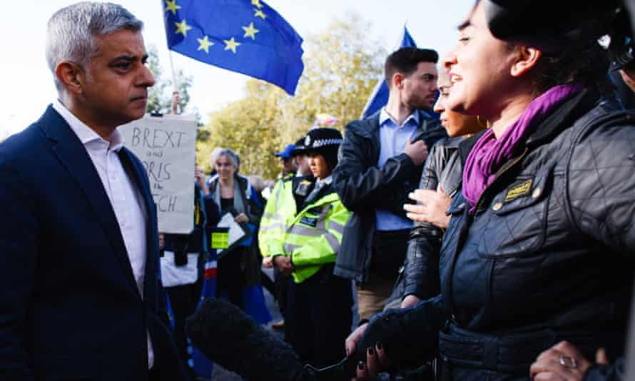Sadiq Khan at a People's Vote march in 2019.