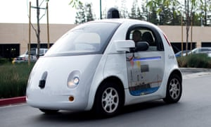A prototype of a self-driving car being developed by Google