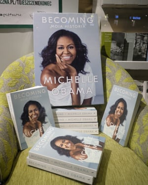 Michelle Obama's book Becoming is still No 1 on the New York Times nonfiction list.