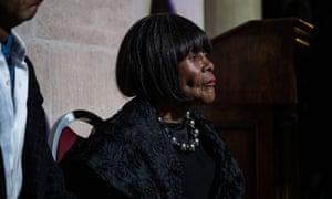 Cicely Tyson in attendance at the Arthur Mitchell memorial.
