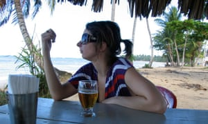 Fay Schopen on Christmas Day in the Dominican Republic.