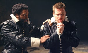 Chiwetel Ejiofor (Othello) and Ewan McGregor (Iago) in Othello, performed at sea in 19th-century America.