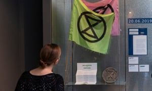 Objects from Extinction Rebellion on display at the V&A