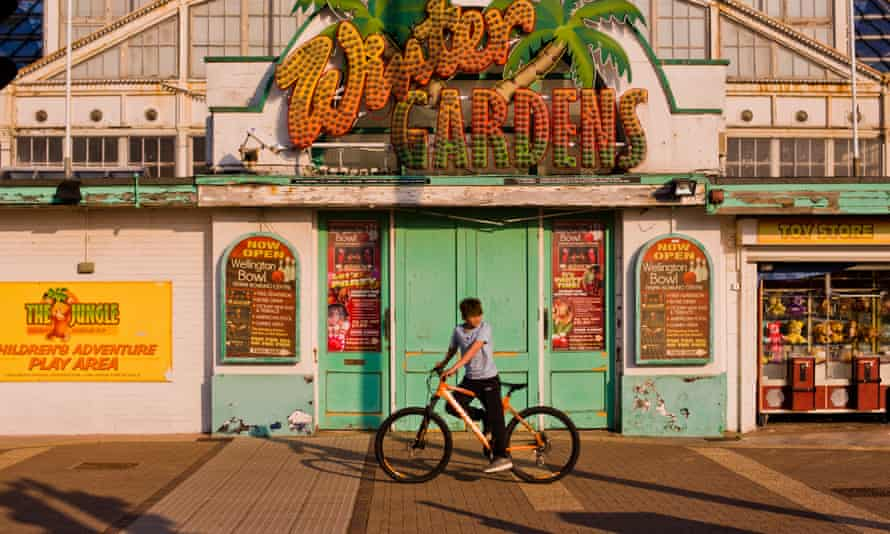 Outside the Winter Gardens, on Great Yarmouth promenade.