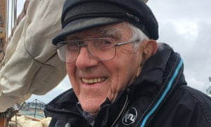 Graham Watts in 2019 on board Olga, a Bristol pilot cutter commissioned and once owned by his uncle
