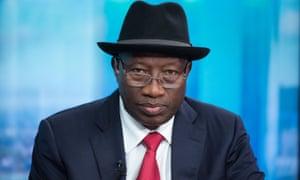 Nigeria's former president Goodluck Jonathan