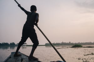 A boatman on one of Bangladesh's 700 rivers